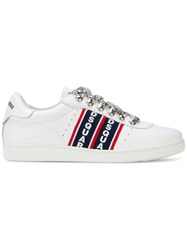 Dsquared2 Barney Logo Stripe Sneakers White