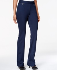 Alfani Petite Flared Pull On Pants Only At Macy's Modern Navy