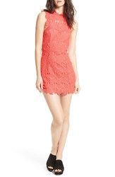 Free People Women's Daydream Lace Minidress Coral