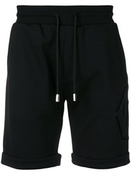 Philipp Plein Elasticated Bermuda Shorts Black