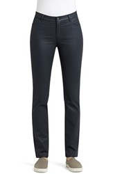 Women's Lafayette 148 New York Waxed Denim Slim Leg Jeans Eclipse