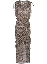 Veronica Beard Snakeskin Print Midi Dress 60