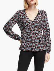 Boden Viola Top Black Romantic Bloom