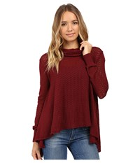 O'neill Clemens Pullover Ruby Wine Women's Long Sleeve Pullover Burgundy