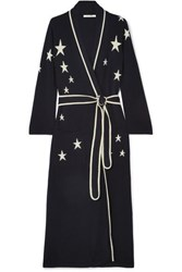 Chinti And Parker Star Cashmere Robe Navy
