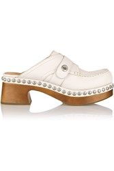 Coach Studded Textured Leather Clogs