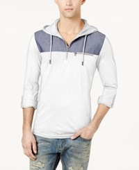 Inc International Concepts Men's Quarter Zip Hoodie Created For Macy's White Pure