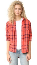 Sundry Plaid Basic Shirt Rubis