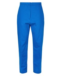 Jaeger Patch Pocket Cropped Trousers Blue