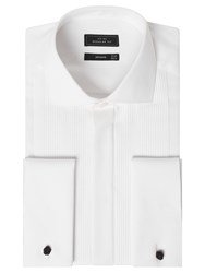 John Lewis Pleat Front Regular Fit Dress Shirt White