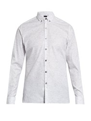 Lanvin Button Down Cotton Blend Shirt White Multi