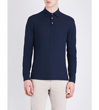 Slowear Ice Cotton Polo Shirt Airforce Blue