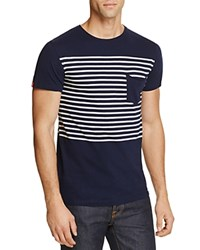 Superdry Lite Loomed Striped Pocket Tee Navy
