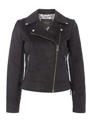 Andrew Marc New York Faux Suede Jacket Black