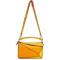 Loewe Orange And Yellow Small Puzzle Bag