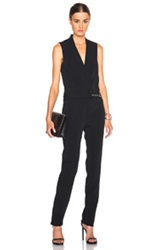 Thierry Mugler Mugler Fitted Cady Jumpsuit In Black