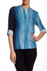 T Tahari Delaney Blouse Blue