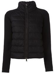 Moncler Padded Front Knit Jacket Black