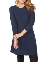 Fat Face Simone Knitted Dress Navy