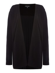 Episode Knitted Cardigan With Pleated Back Black