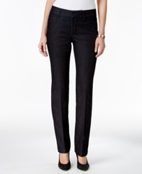 Charter Club Tummy Control Straight Leg Pants Only At Macy's Midnight Wash