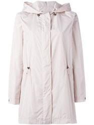 Salvatore Ferragamo Hooded Parka Pink Purple
