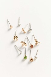 Urban Outfitters Teensy Tiny Post Earring Set Mixed Metal