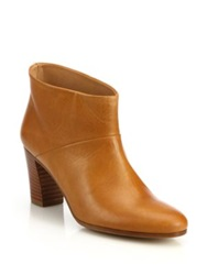Maison Martin Margiela Leather Stacked Heel Booties Black Brown