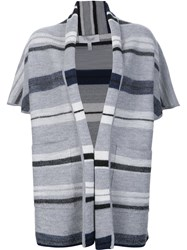 Derek Lam 10 Crosby Shortsleeved Blanket Cardigan Black