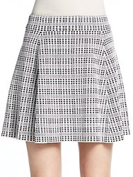 Theory Rortie Tweed Skirt White Black