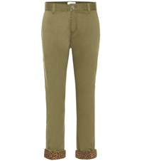 Current Elliott The Confidant Cotton Blend Pants Green
