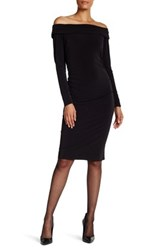 Laundry By Shelli Segal Off The Shoulder Matte Jersey Dress Black