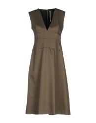 Laviniaturra Knee Length Dresses Khaki