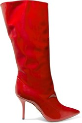 Paul Andrew Ciondolare Patent Leather Knee Boots Red