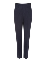 Chester Barrie Drill Trousers Navy