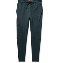 Nike Lim Fit Tapered Cotton Blend Tech Fleece Weatpant Emerald