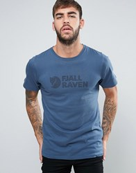 Fjall Raven Fjallraven T Shirt With Logo In Blue Uncle Blue