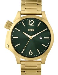 Edwin Watch Gold With Green Dial Brook