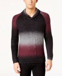 Inc International Concepts Men's Ombre Sweater Created For Macy's Vintage Wine