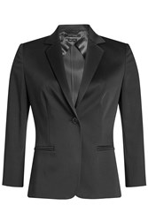 Max Mara Stretch Cotton Blazer With Cropped Sleeves
