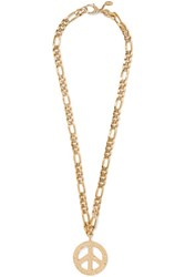 Moschino Gold Tone Necklace Red