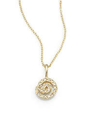 Saks Fifth Avenue Diamond And 14K Yellow Gold Swirl Necklace