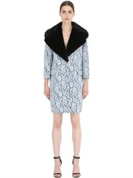 Ainea Lace Coat With Faux Fur Collar