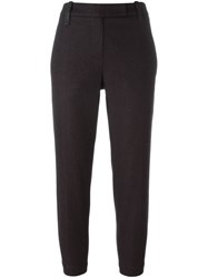 Brunello Cucinelli Belted Cropped Trousers Pink And Purple