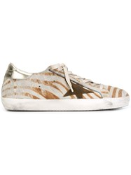 Golden Goose Deluxe Brand 'Super Star' Sneakers Nude And Neutrals