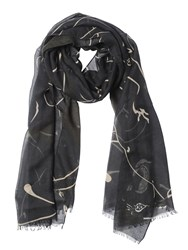 Valentino Panther Printed Modal And Cashmere Scarf