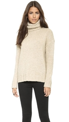 Nili Lotan Turtleneck Oversized Sweater Wheat