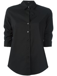 Steffen Schraut Gathered Three Quarters Sleeve Shirt Black