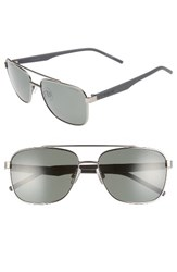 Polaroid Men's Eyewear 60Mm Polarized Navigator Sunglasses Ruthenium Green Ruthenium Green