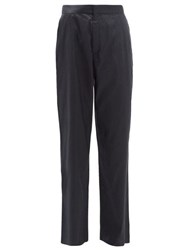 Marques Almeida Marques'almeida High Rise Silk Trousers Black
